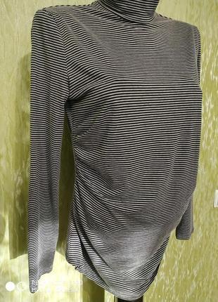 Серый гольф, водолазка, кофта в мелкую черную полоску/👶👶👶 для беременных