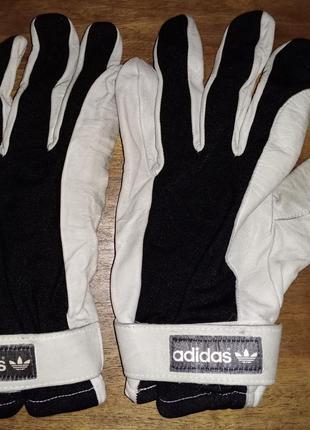Спортивные перчатки adidas, кожа+текстиль