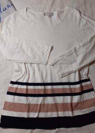 Свитер свитшот реглан кофта в полоску полосатый полосочка трикотажный шелк шелковый