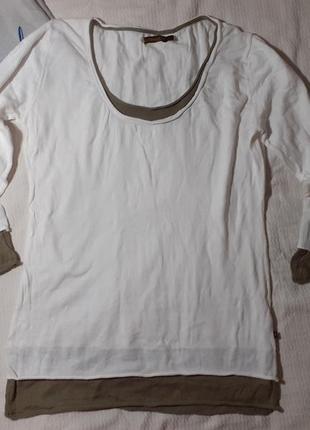 La naturelle свитер реглан кофта свитшот рукав укороченный края стильный