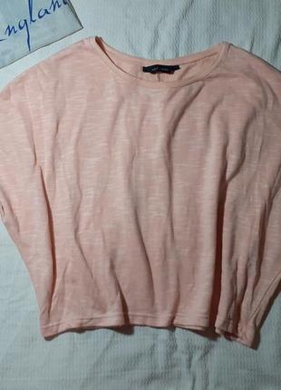 Свитшот свитер пудровый топ топик укороченный трикотажный спортивный меланж меланжевый
