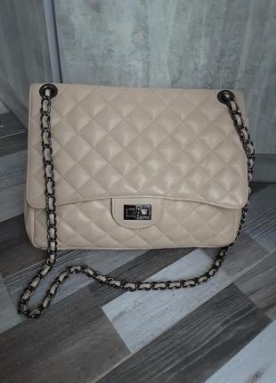 Красивая кожаная сумка borse in pelle