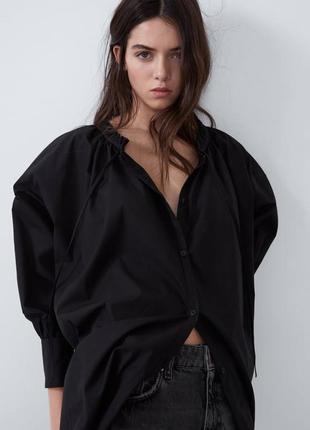 Oversize рубашка из органического хлопка