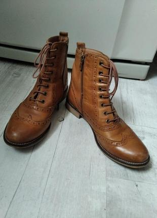 Кожаные полуботинки ботинки