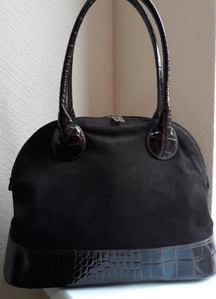 Италия женская вместительна сумка.классика.