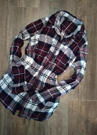 Рубашка в клеточку с карманами