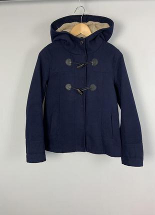 #розвантажуюсь темно-синяя куртка пальто с капюшоном  весна-осень pull&bear