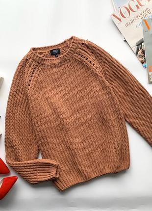 👚отменный светло коричневый свитер/тёплый бархатный свитер/тёмно бежевый плюшевый свитер👚