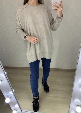 Удлиненный кашемировый свитер warm&co