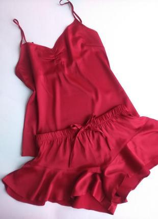 Сатиновая пижама виктория сикрет victoria's secret, оригинал!