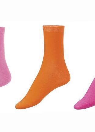 Набор женских носков 3 пары р. 39-42 носки хлопковые германия