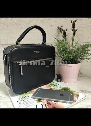 Женская сумка на два отделения / клатч повседневный baliviya 881975-1 черный