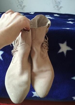 Ботинки кожаные zara 37