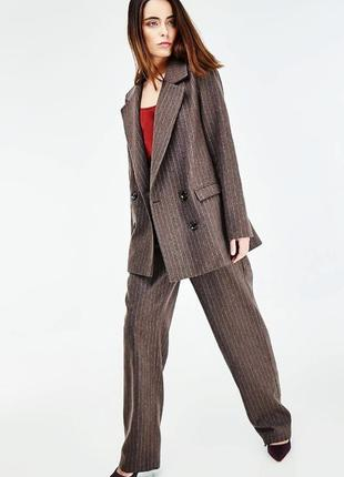 Брючный костюм  шерсть45%, оверсайз, с мужского плеча! varteks international,46-48.