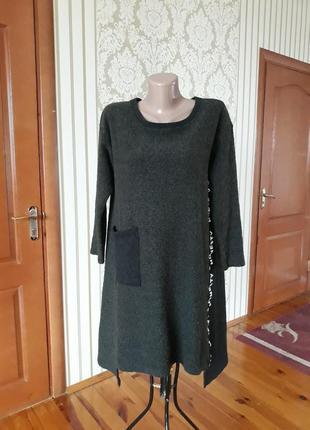 Стильное итальянское  туника платье в стиле бохо