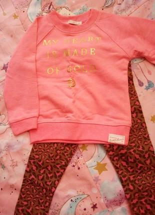 Детский костюм для девочки с лосинами