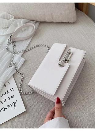 Новая шикарная белая стильная сумка, мастхев!!
