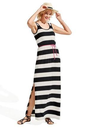 Макси платье в полоску esmara размер евро 40-42