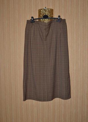 Xхl/3ххl большой размер! шитая юбка в клетку, легкая, ткань супер.