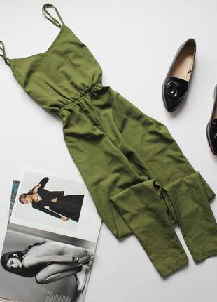 Классный зеленый ромпер брюками с 8