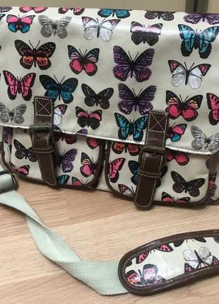 Сумка anna smith new york  сумочка из англии бабочки