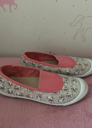 Тапочки сменная обувь для девочки р 31 принт единорожки primark. тапочки , змінне взуття
