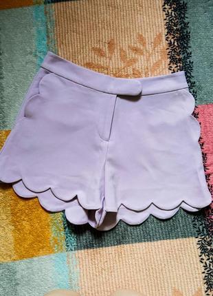 Классические шорты atmosphere лиловые с карманами в деловом стиле