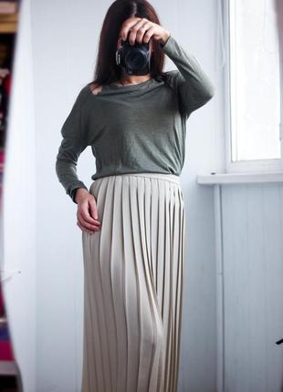 Плиссированная юбка размер м,л