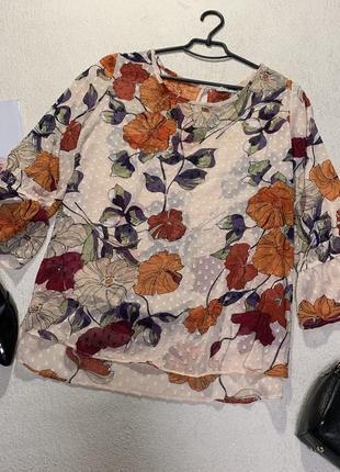 Стильная шифоновая блузка,размер 3xl