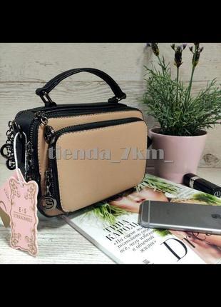 Женская сумка через плечо / клатч eteralsmile hx137 black/pink