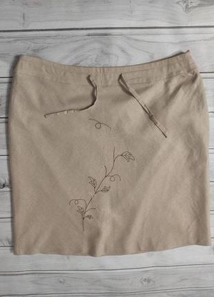 Льняная юбка премиум качества от elegance, 20 размер