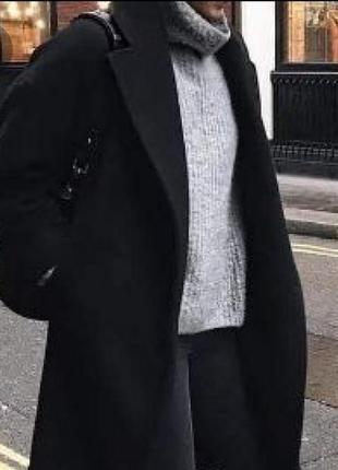 Пальто черное h&m пальто халат