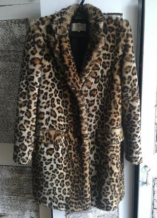 Пальто,шуба zara оригинал,леопард,принт