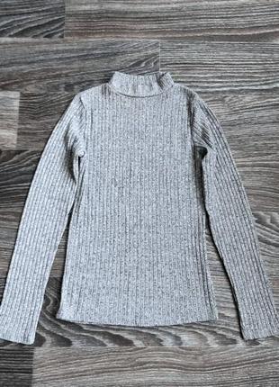 Серая мягкая трикотажная кофта свитер джемпер в рубрик от atmosphere