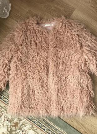 Эко / искусственная шуба с меха ламы