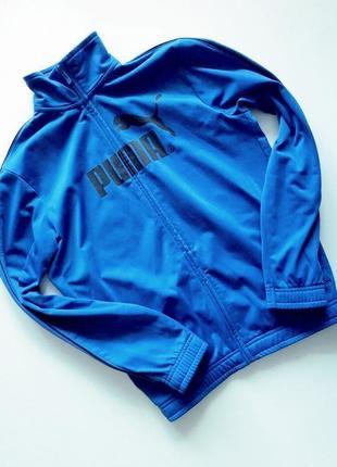 Оригинал суперская синяя плотная спортивная кофта олимпийка пума от puma lifestyle