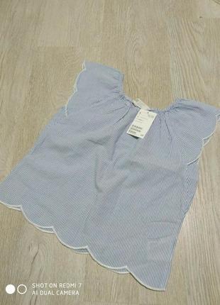 Красивая летняя блуза для девочки h&m. р. 116 на 5-6 лет