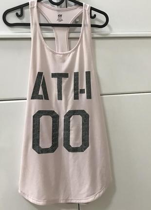 Кофта майка борцовка спортивная розовая для бега йоги h&m размер xs