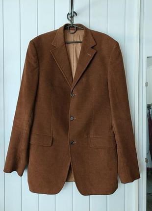 Чоловічий вельветовий котоновий піджак жакет на високий зріст  joop оригінал