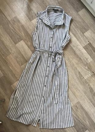Платье сарафан туника полосатое рубашка блузка
