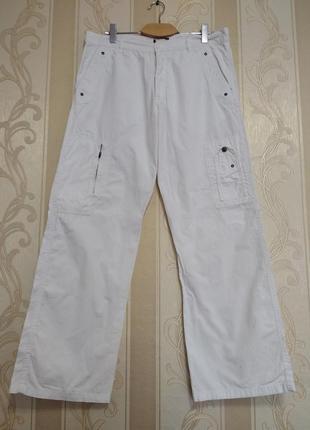 Белые котоновые мужские брюки, maver.