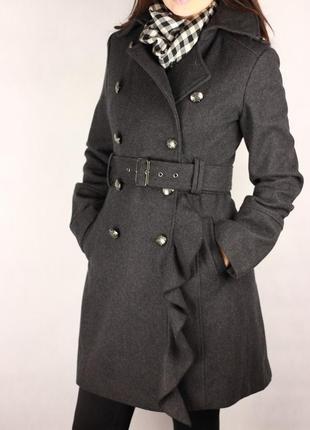 Фирменное шерстяное пальтишко по типу zara benetton