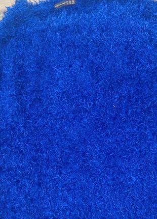Синий свитер « травка»