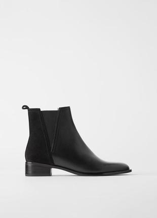 Базовые ботинки -челси натуральная кожа zara