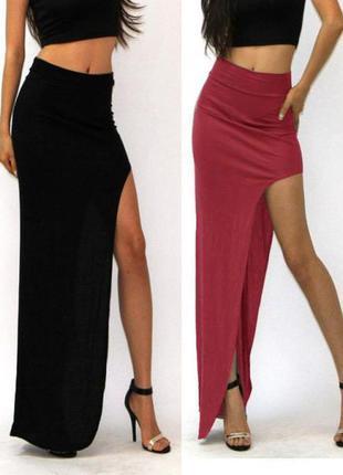 Купить юбку с разрезом сбоку