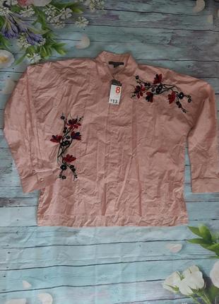 Рубашка с вышивкой оверсайз
