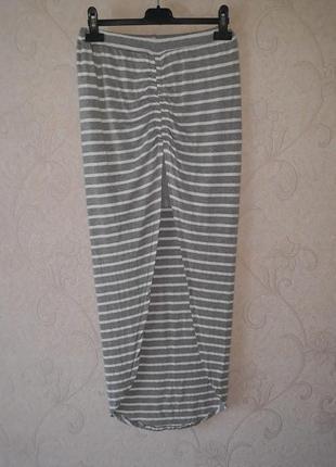 Юбка в полоску, длинная юбка, полосатая летняя юбка, спідниця літня