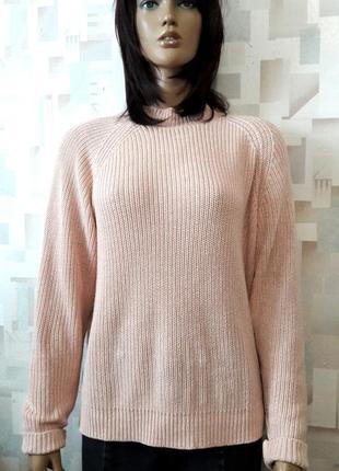 Сильный пудровый свитер с молнией на спине от h&m3 фото