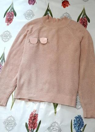 Сильный пудровый свитер с молнией на спине от h&m5 фото