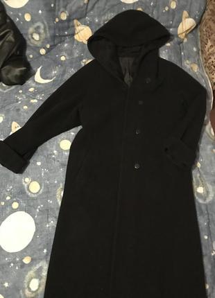 Черное пальто новое кашемир